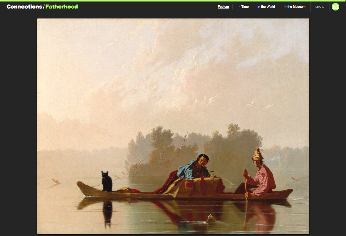 "Figure 12:  George Caleb Bingham's ""Fur Traders Descending the Missouri,"" 1845"