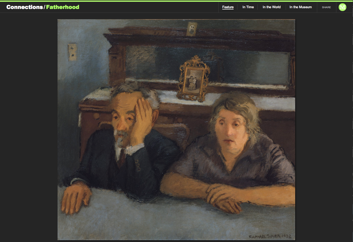 "Figure 13:  Raphael Soyer's ""The Artist's Parents,"" 1932"