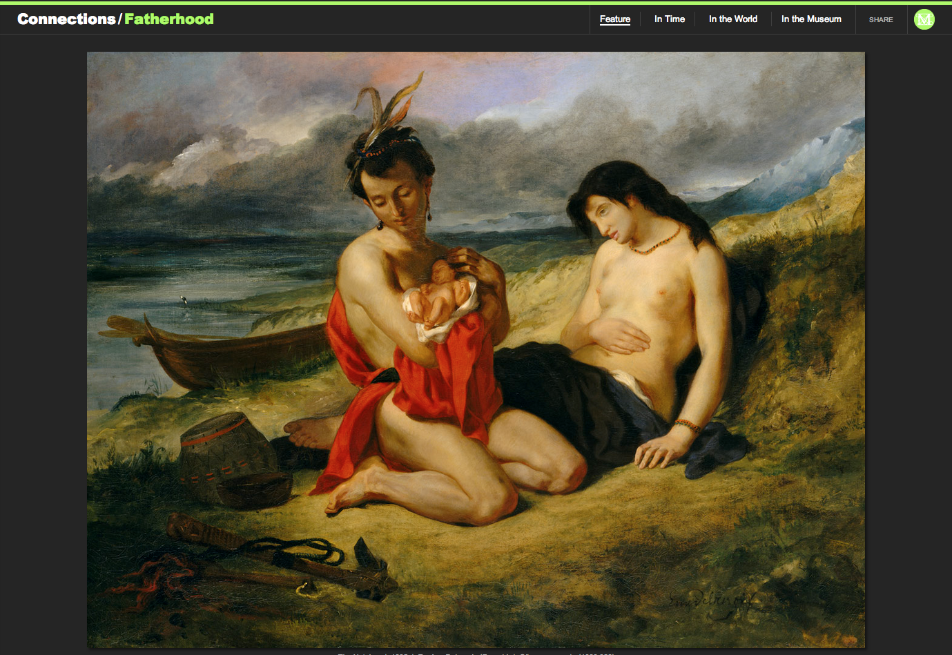 "Figure 14:  Eugène Delacroix's ""The Natchez,"" 1835"