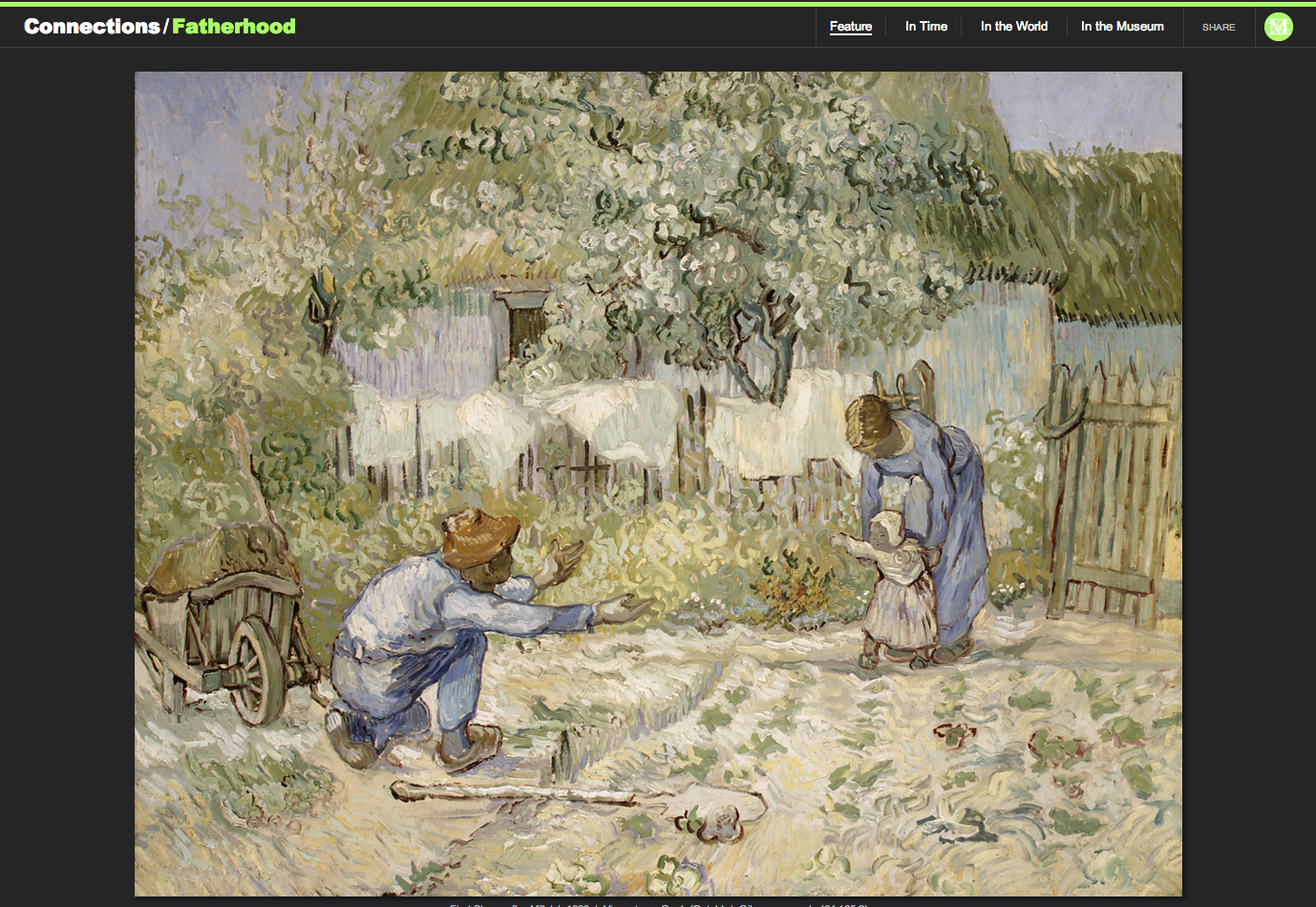 "Figure 16:  Vincent van Gogh's ""First Steps, after Millet,"" 1890"