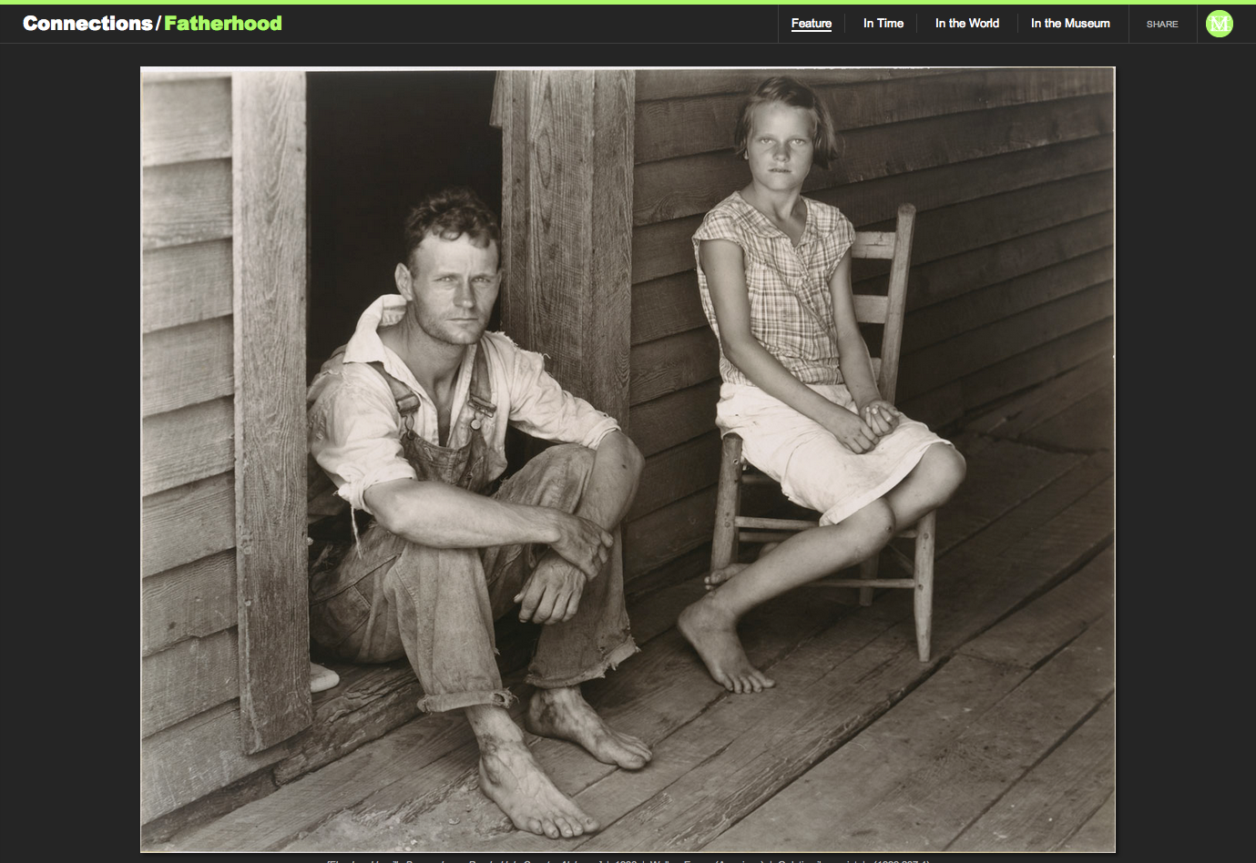 "Figure 17:  Walker Evans's ""[Floyd and Lucille Burroughs on Porch, Hale County, Alabama],"" 1936"