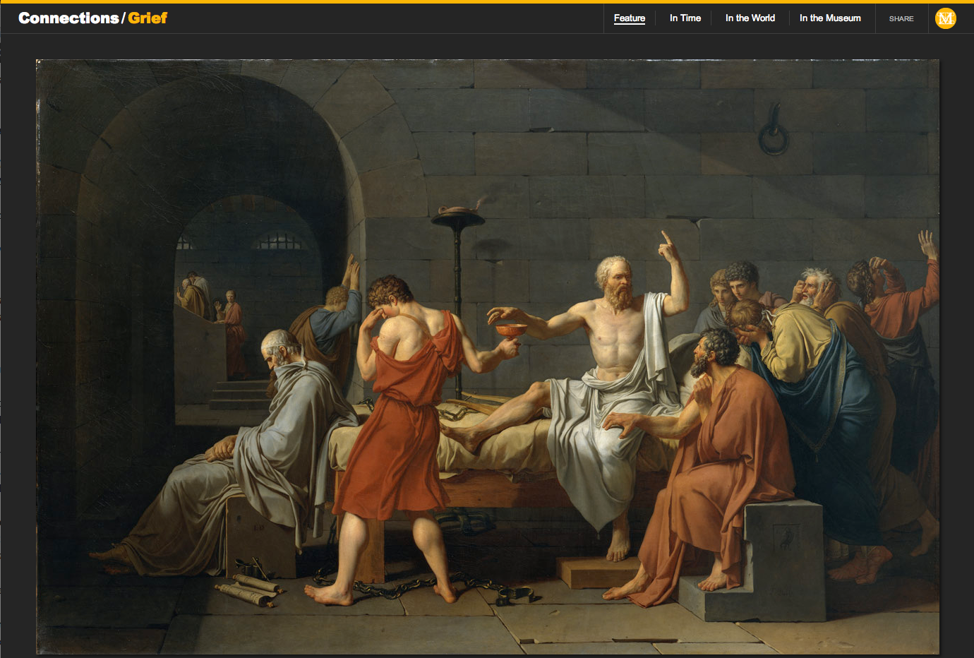 "Figure 19:  Jacques-Louis David's ""The Death of Socrates,"" 1787"