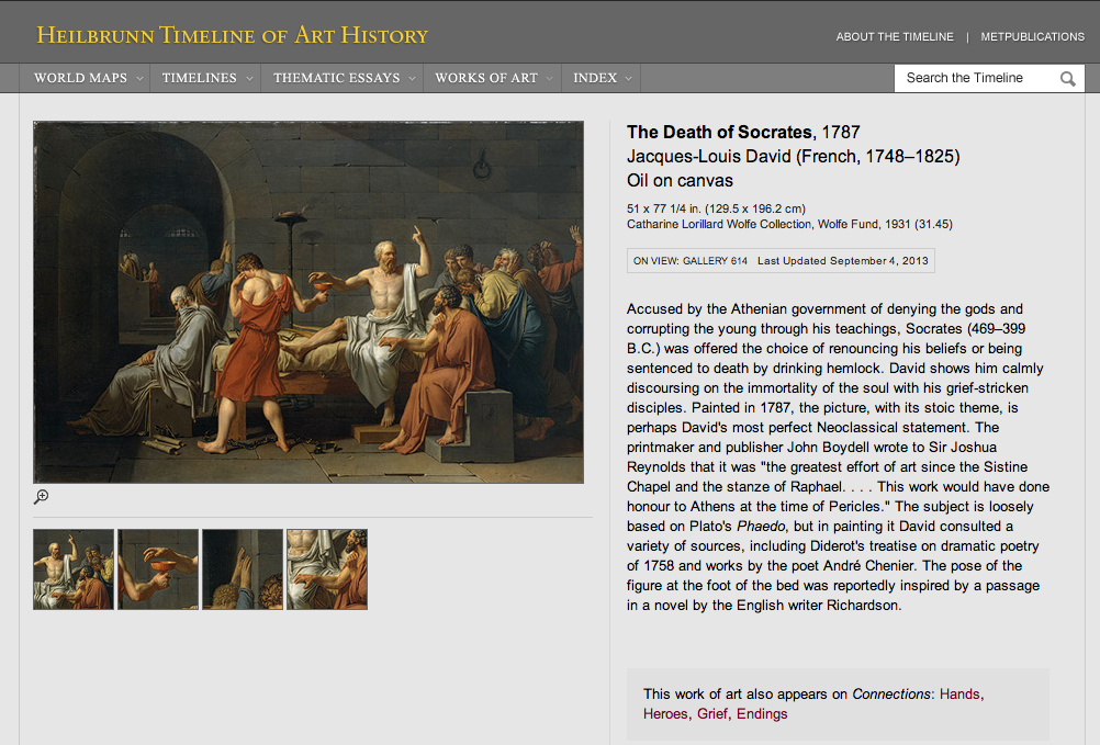 "Figure 6:  Jacques-Louis David's ""The Death of Socrates,"" 1787"
