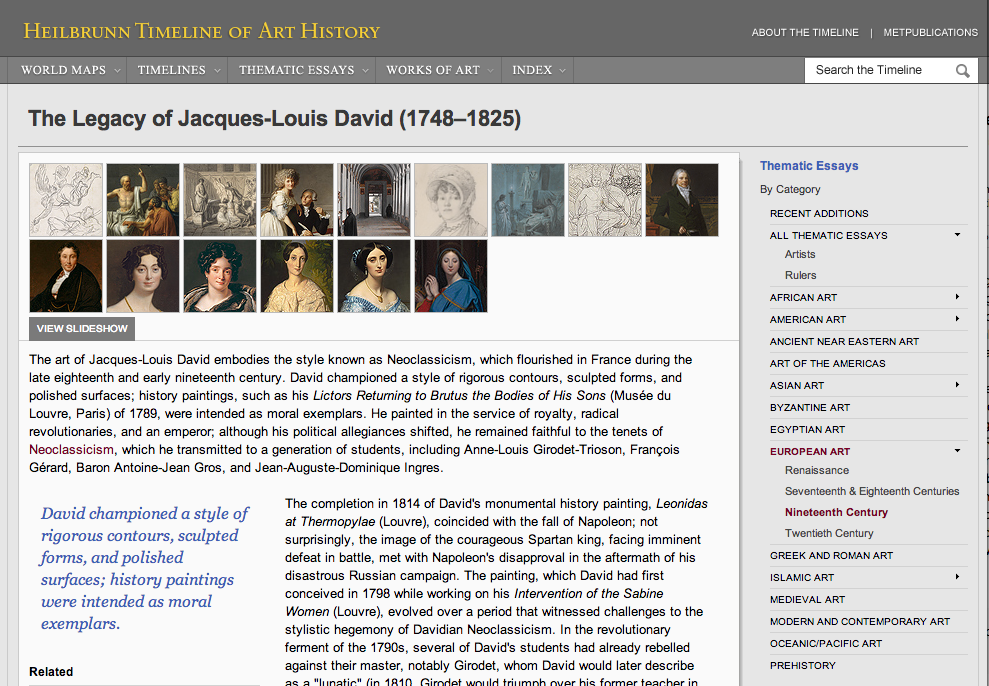 "Figure 7:  ""The Legacy of Jacques-Louis David (1748–1825)"