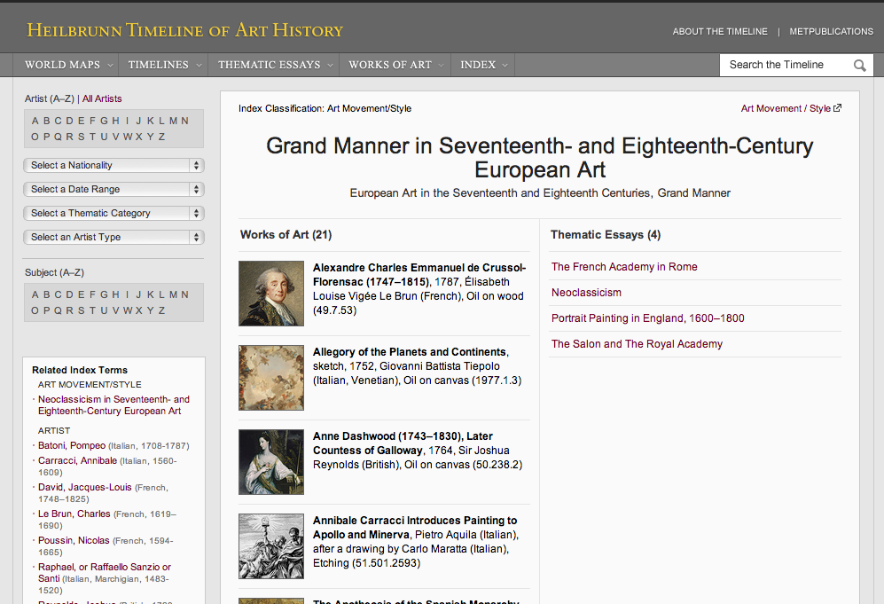 "Figure 8:  ""Grand Manner in Seventeenth- and Eighteenth-Century European Art"""